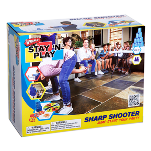 Sharp Shooter - Stay 'N Play Packaging Front View