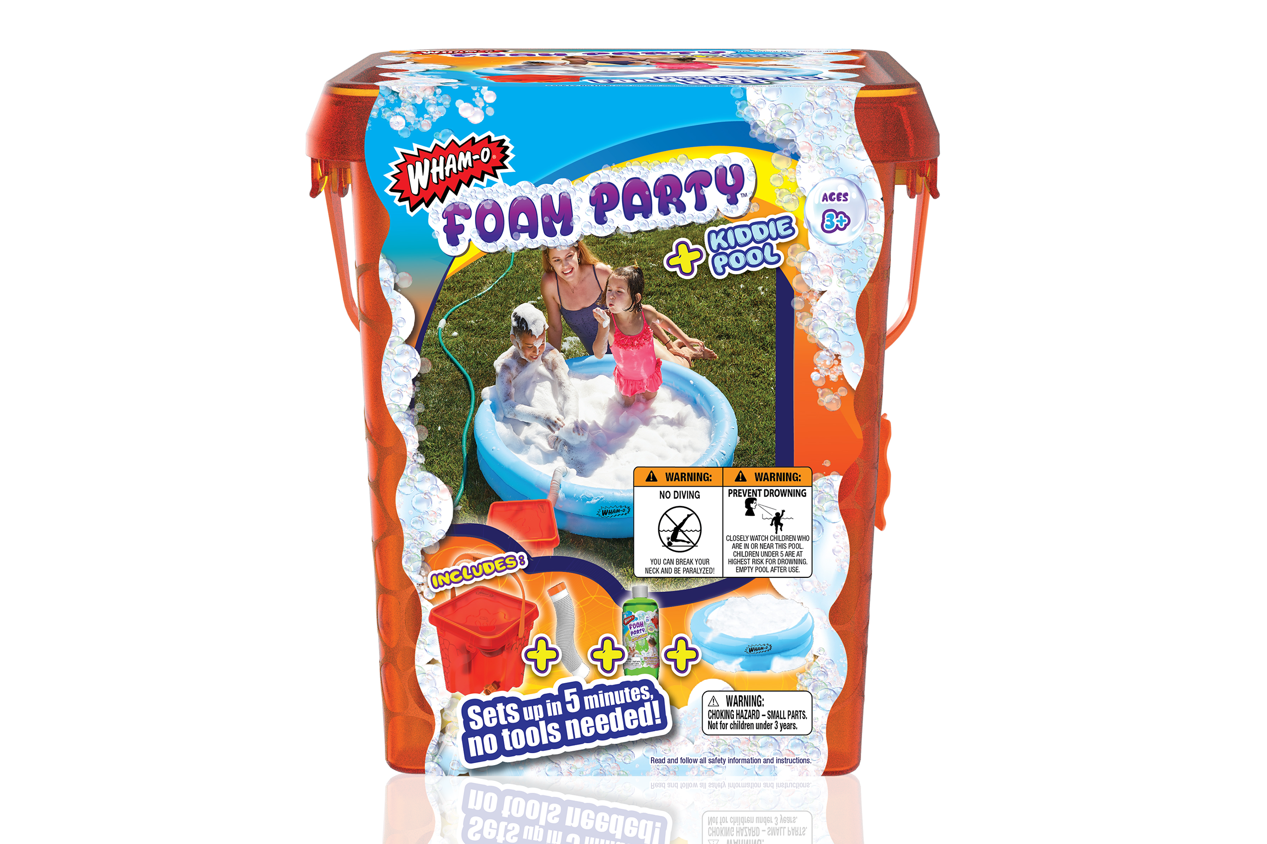Wham-O Foam Party™ Bucket With Kiddie Pool on sale now and part of the Foam Party™ Bucket With Kiddie Pool of products.