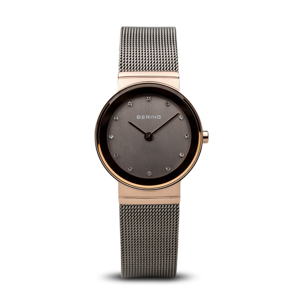 Bering Polished Rose Gold Watch