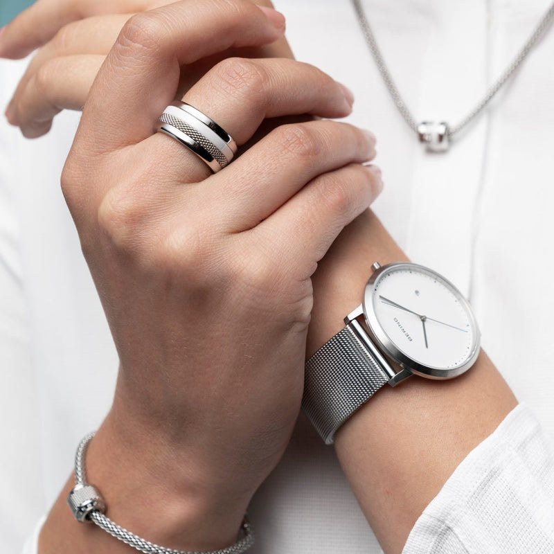 Bering Sale Brushed Silver Watch