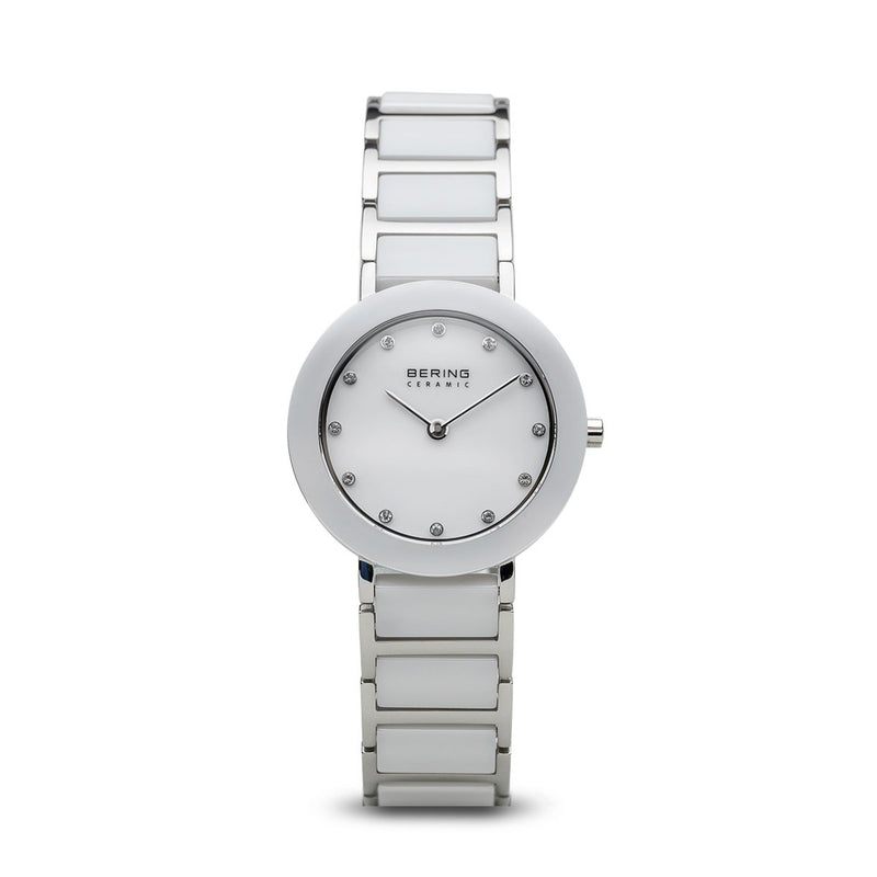 Bering Ceramic Polished Silver White Watch