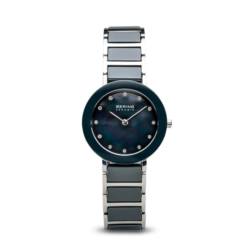 Bering Sale Polished Silver Steel Grey Watch