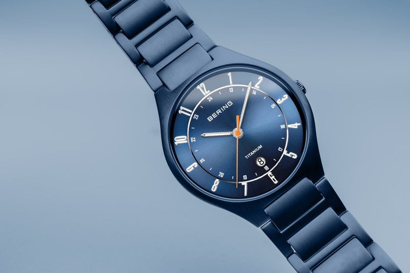 Bering Titanium Mat Blue Watch