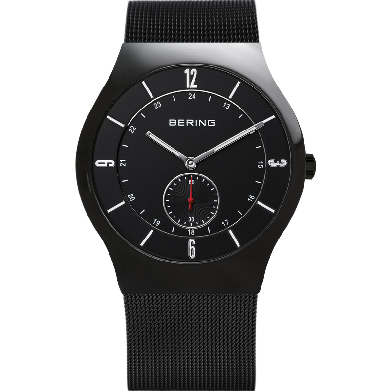 Bering Classic Brushed Black Mesh Watch