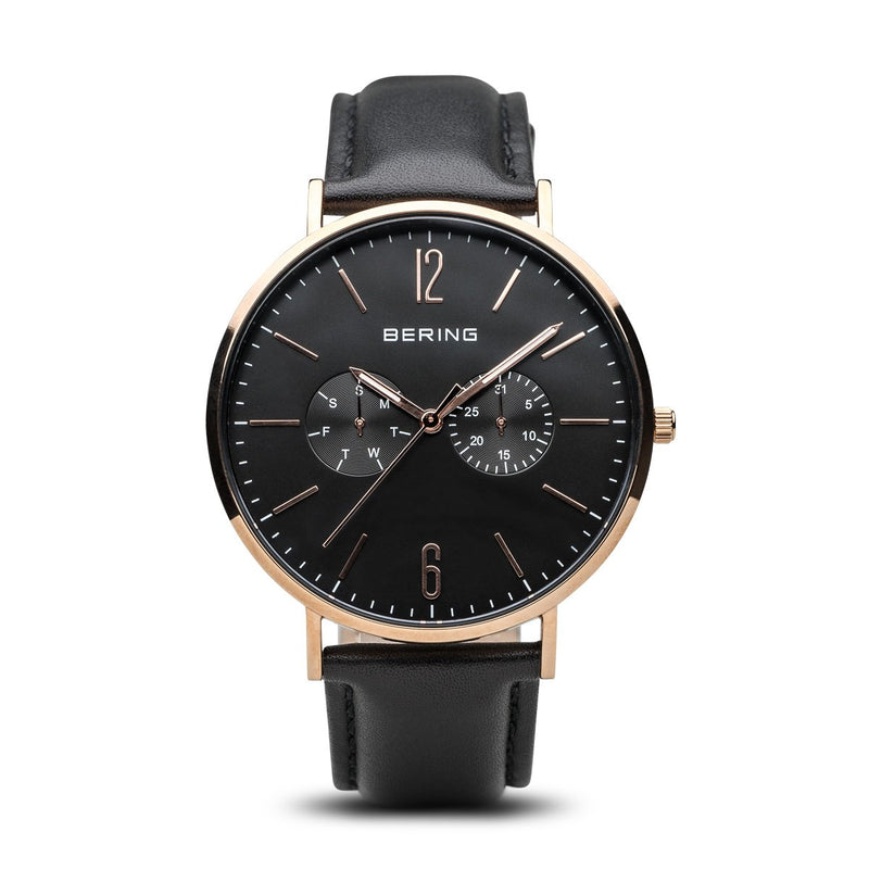 Bering Classic Polished Rose Gold Watch