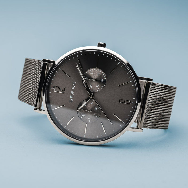 Bering Classic Polished Silver Combo Watch