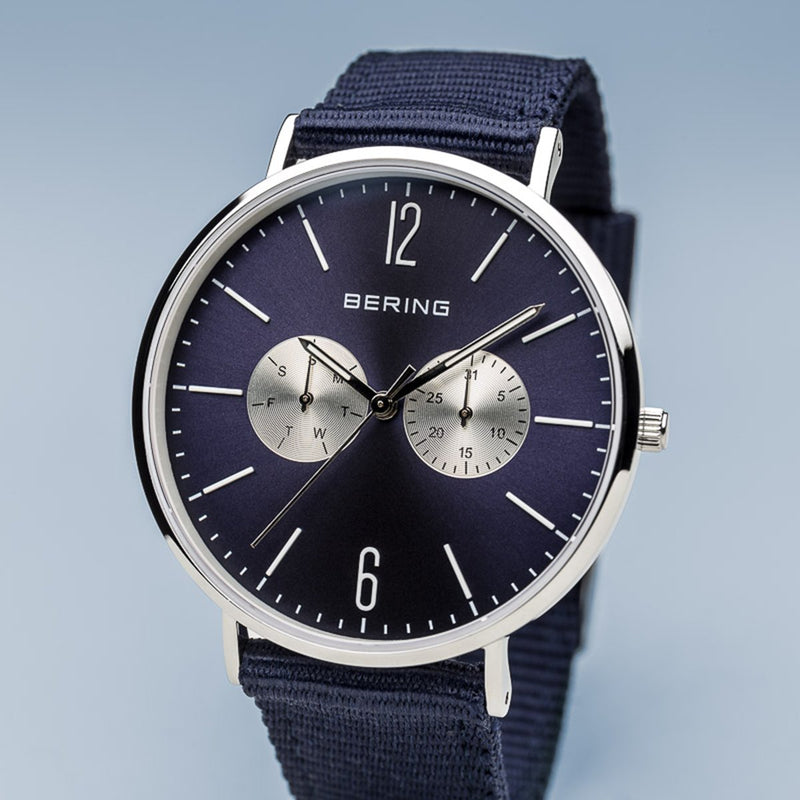 Bering Polished Silver Watch