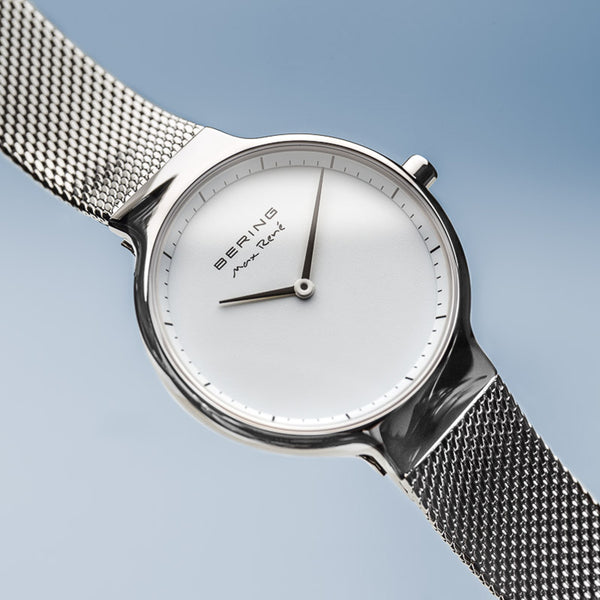 Bering Max René Polished Silver Watch 31mm