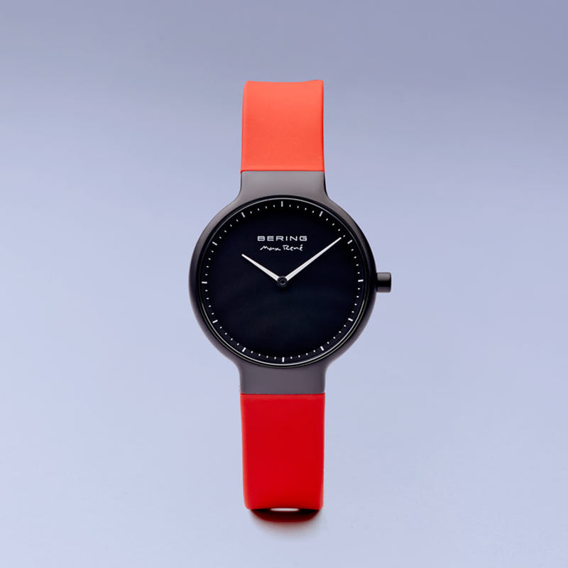Bering Max René Matte Black and Red Watch 40mm