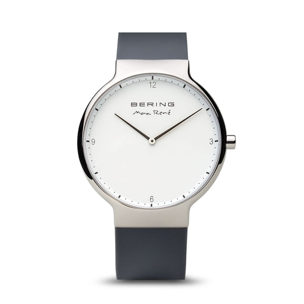 Bering Max René Polished Silver and Grey Watch 40mm