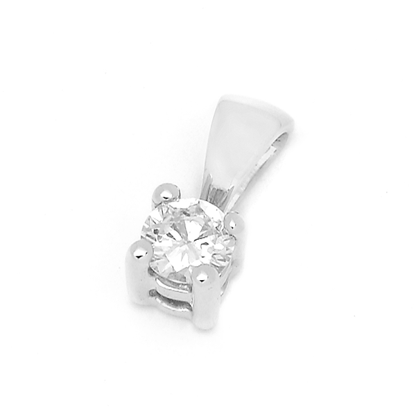 18ct White Gold 0.08ct TDW Diamond Pendant