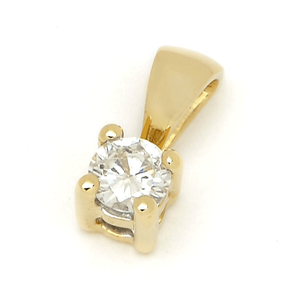 18ct Yellow Gold 0.08ct TDW Diamond Pendant