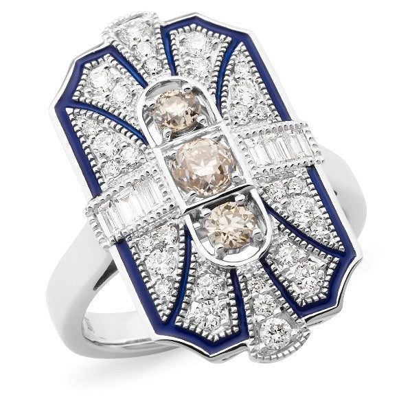 Diamond Claw/Bead Set Dress Ring