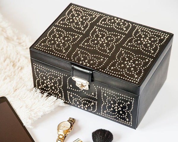 Wolf 1834 Marrakesh Medium Jewellery Box- Black