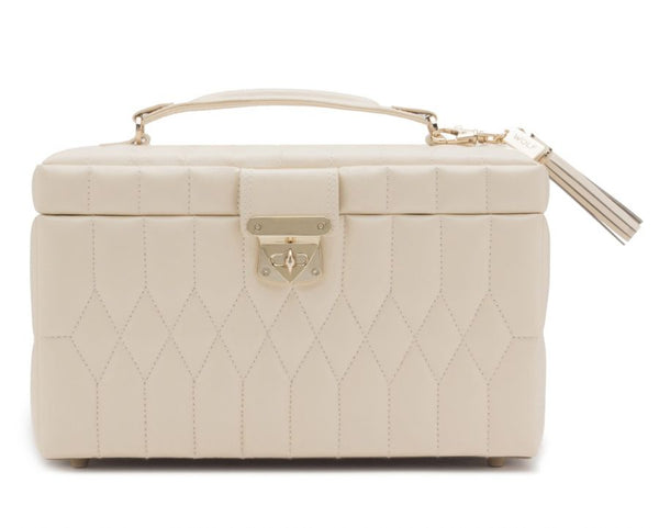 Wolf 1834 Caroline Medium Jewellery Case- Ivory