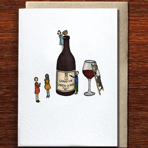 The Nonsense Maker Wine Time - Greeting Card