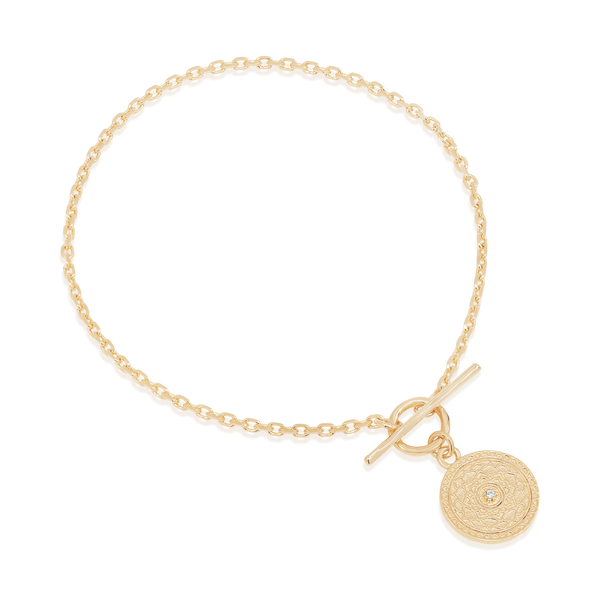 By Charlotte Gold A Thousand Petals Fob Bracelet