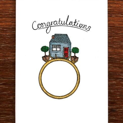 The Nonsense Maker Congratulations Engagement - Greeting Card