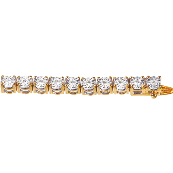 9ct Yellow Gold 0.74ct TDW Diamond Bracelet