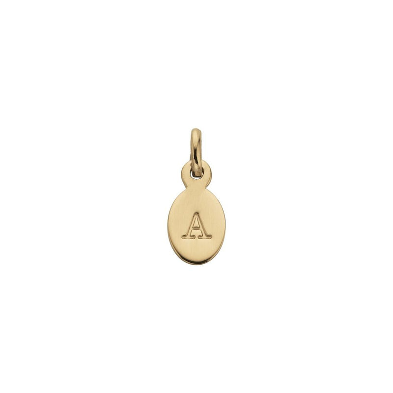 Kirstin Ash Initial Charm Yellow gold plated