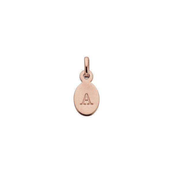 Kirstin Ash Initial A-Z Rose gold plated