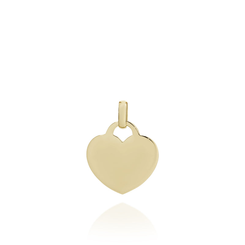 9ct Gold Engravable Pendant