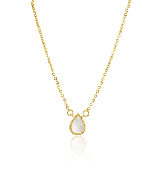 9ct yellow gold mother of pearl necklet