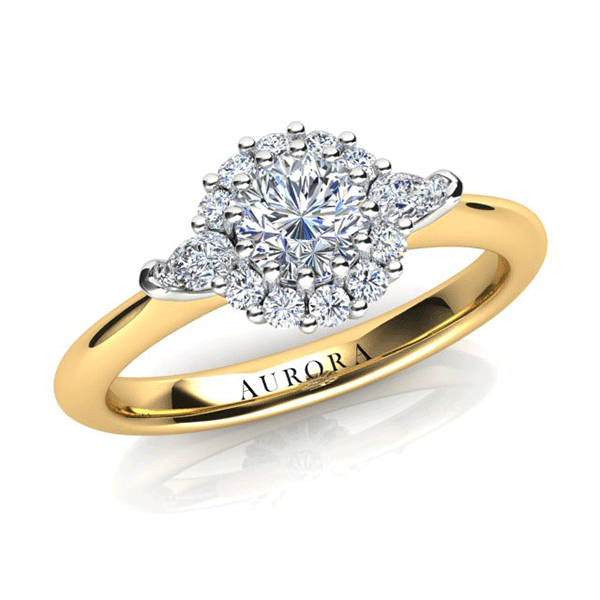 Aurora 18ct Rose Gold G SI1 - 0.67ct TDW Diamond Ring
