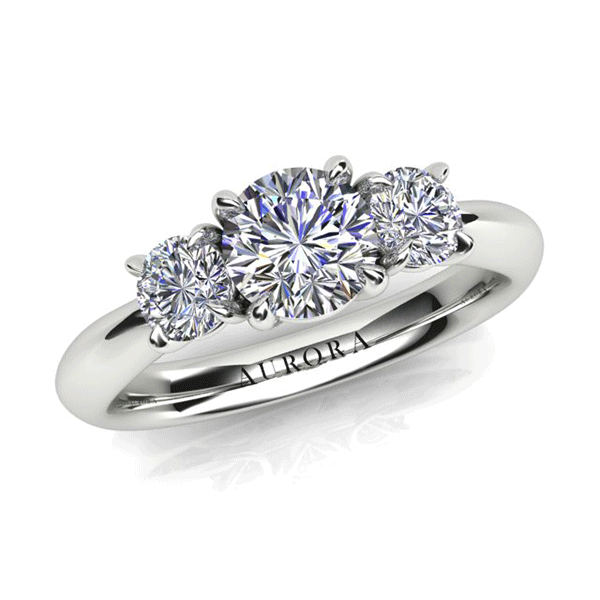 Aurora 18ct White Gold G SI2 - 0.90ct TDW Diamond Ring