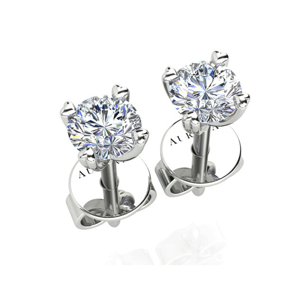 Aurora 18ct White Gold F SI1 - 1.08ct TDW Diamond Earrings