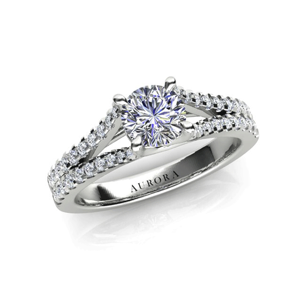 Aurora 18ct White Gold H SI2 - 0.70ct TDW Diamond Ring