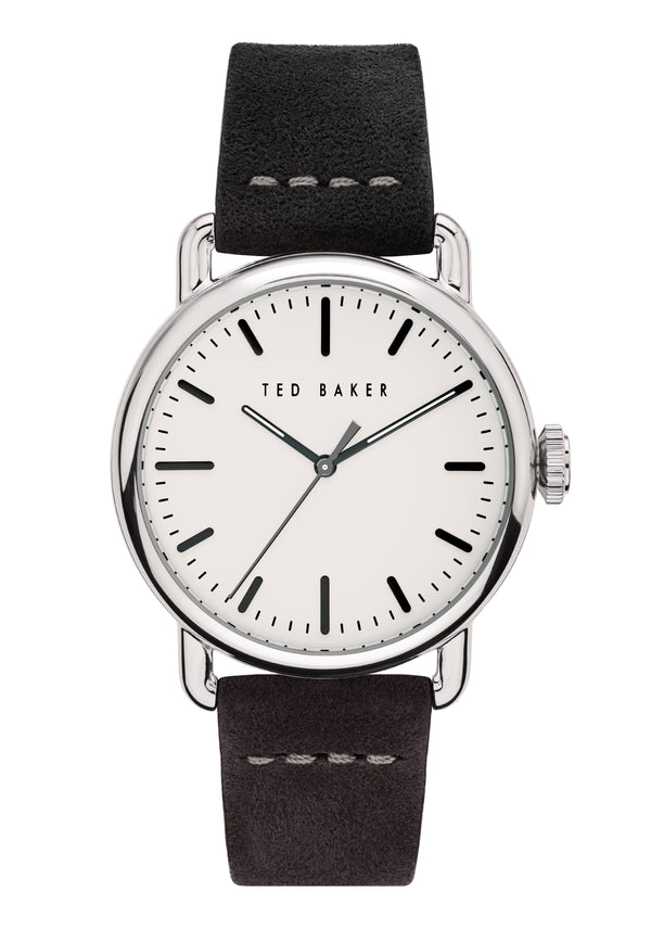 Ted Baker Tomcall Black Distressed Leather Watch