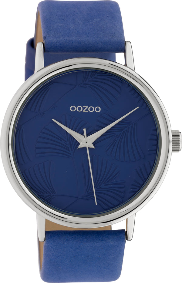 OOZOO 42mm Blue Leather Watch