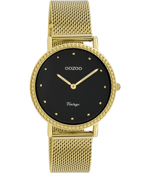 OOZOO Vintage Yellow and Black Mesh Watch