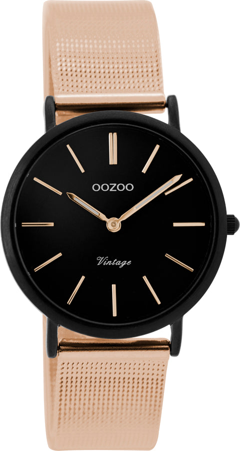 OOZOO 32mm Vintage Style Two Tone Mesh Watch