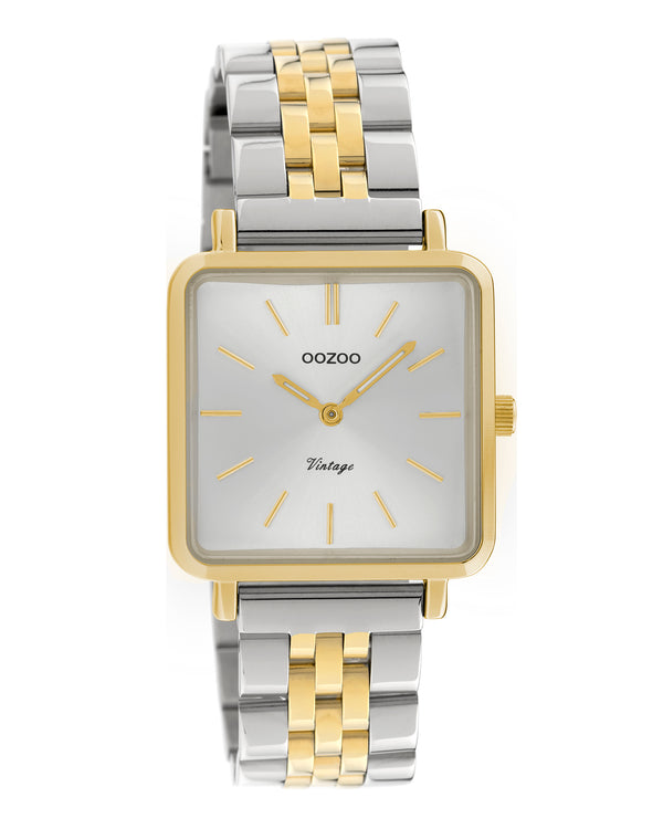 OOZOO Square Two Tone Bracelet Band Watch