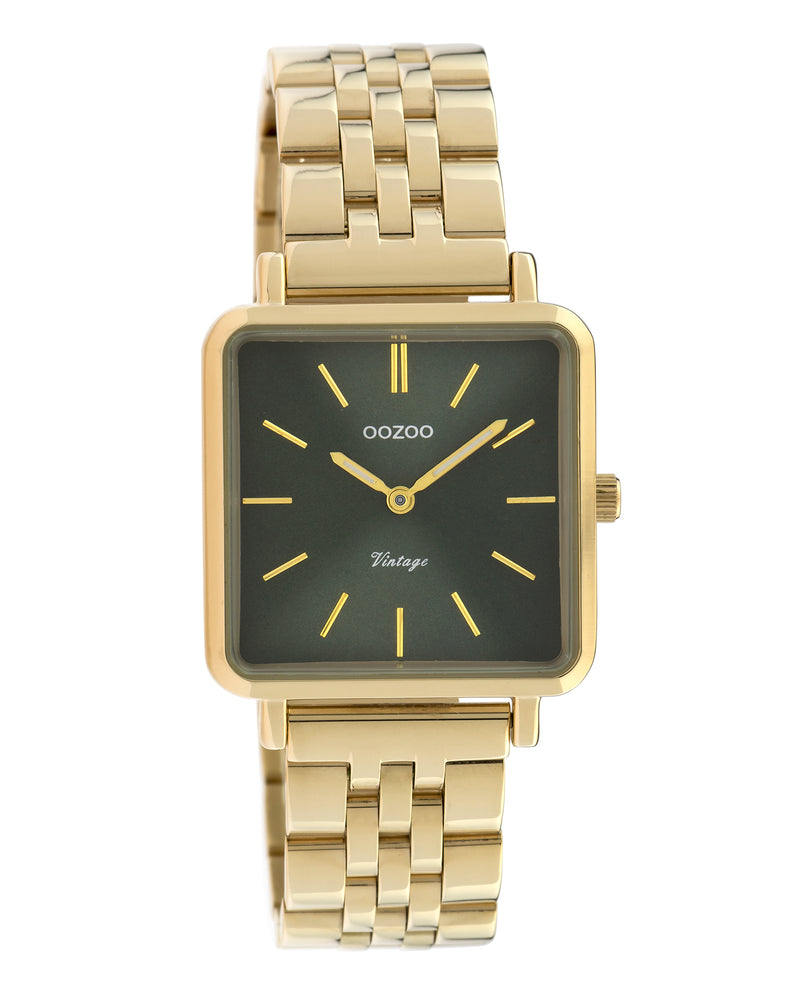 OOZOO Square Gold Bracelet Band Watch