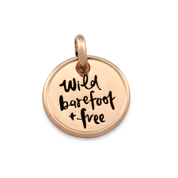 Candid 'Wild Barefoot And Free' Pendant
