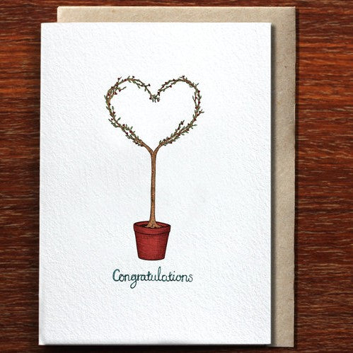 The Nonsense Maker Congratulations Love Tree - Greeting Card