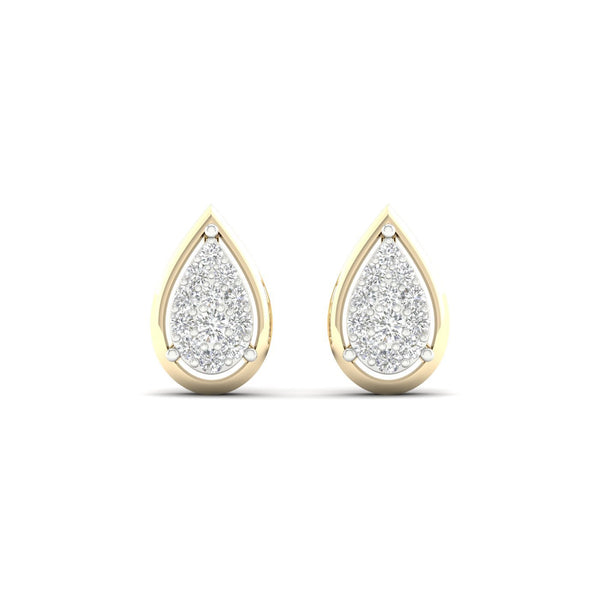 9ct Gold 0.15Ct Diamond Stud Earrings