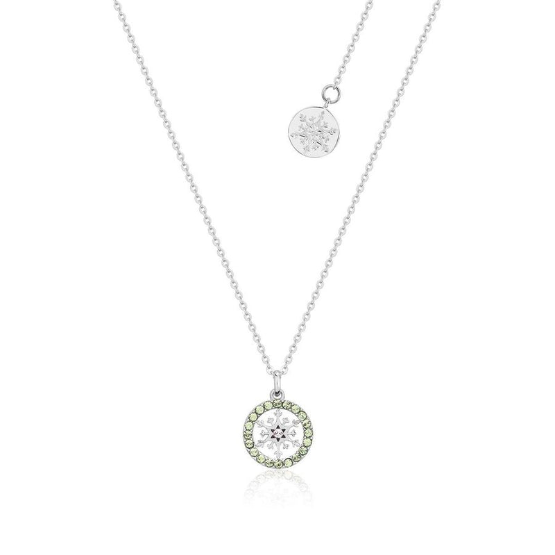 Disney Frozen Snowflake August Birthstone Necklace