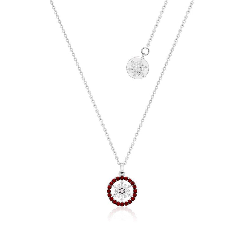 Disney Frozen Snowflake January Birthstone Necklace