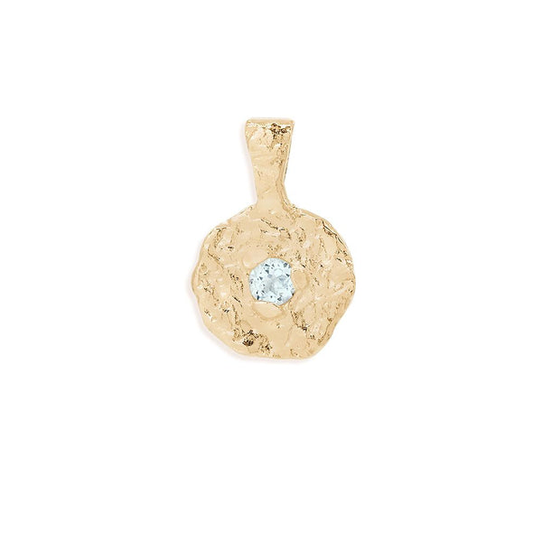 By Charlotte March Aquamarine Birthstone Pendant