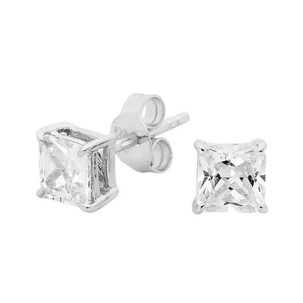 Georgini 5mm Square Clear Stud