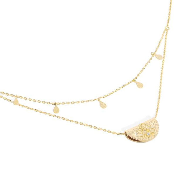 By Charlotte Gold Blessed Lotus Necklace