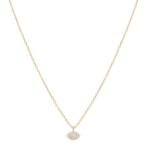 Gold Eye of Protection Necklace