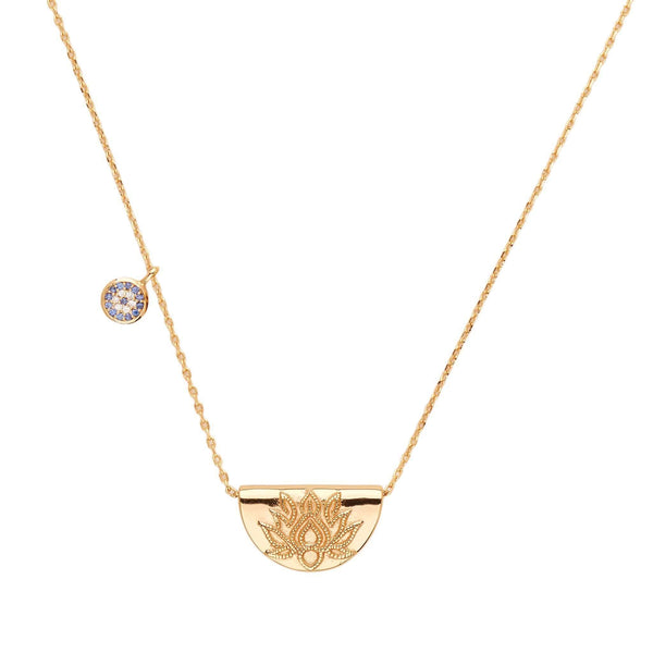 By Charlotte Gold Lucky Lotus Necklace