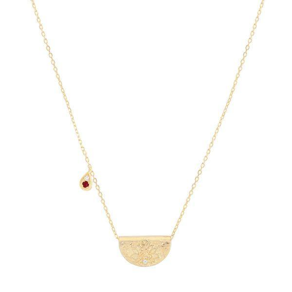 By Charlotte Gold embrace your path necklace- July