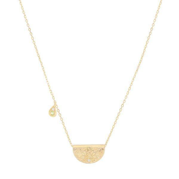 Gold protect your heart Necklace - August