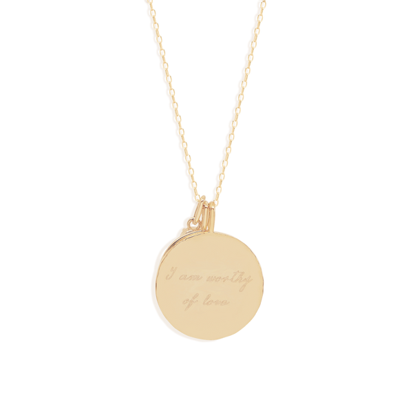 By Charlotte Gold I Am Worthy Of Love, Heart Chakra Necklace